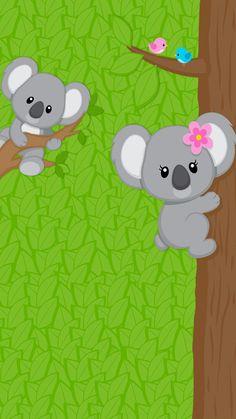 Cute koala wallpaper Funny Iphone Wallpaper, Baby Wallpaper, Hello Kitty Wallpaper, Unique Wallpaper, Retro Wallpaper, Animal Wallpaper, Cellphone Wallpaper, Aesthetic Iphone Wallpaper, Cartoon Wallpaper