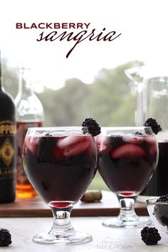 Blackberry Red Wine Sangria Recipe | Red Wine Sangria for Summer