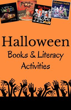 Great books and literacy activities to use for Halloween! Halloween really kicks off the fun holiday season.  There are so many wonderful books for kids about the Halloween season and lots of fun literacy activities to do.  Here are some of our favorites!