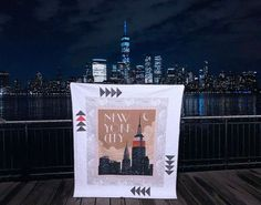 Destinations – New York City Skyline Panel Quilt – Riley Blake Designs