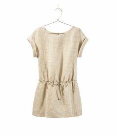 LINEN DRESS WITH BELT - Dresses - Girl - Kids - ZARA United States