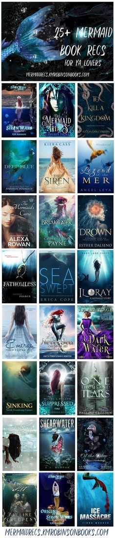 25+ Mermaid Young Adult Book Recommendations + the full Young Adult Edition live broadcast episode with mermaid authors K.M. Robinson, Elle Beaumont, and Amber R. Duell. Have something we should add to the list? mermaidrecs.kmrobinsonbooks.com to let us know!