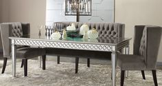 Sophie Mirrored Dining Table By Z Gallerie New House