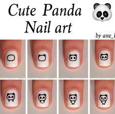 Cute panda nail art tutorial