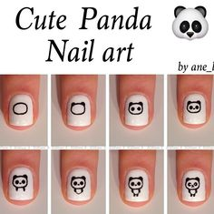 Cute panda nail art tutorial
