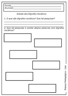 """Diversas atividades com dígrafos! Texto """"Bolhas"""" de Cecília Meireles, Pesquisa + atividades diversas! - ESPAÇO EDUCAR"""
