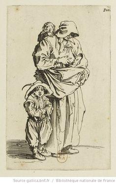 [Les gueux]. [18], [La mère et ses trois enfants] : [estampe] / [Jacques Callot] - 1