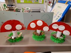 Eenvoudig knutselwerkje Cute Crafts, Fall Crafts, Diy Crafts, Art For Kids, Crafts For Kids, Arts And Crafts, Autumn Activities, Preschool Activities, Alice In Wonderland Mushroom