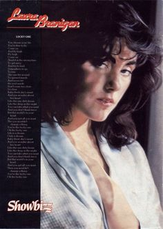 """From a page out of Showbizz magazine. The lyrics to Laura Branigan's """" The Lucky One """"."""