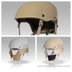 "Crye Precision Airframe ""Spartan"" helmet with Chops and StockPad. So cool..."