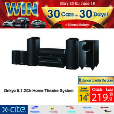 Onkyo 5.1.2Ch Home Theatre System available online and in our showrooms for 219.900KD