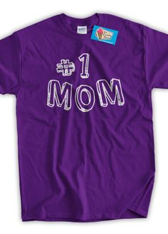Mothers Day TShirt New Baby Gift Number 1  one Mom by IceCreamTees, $14.99 #mama #babyshower #babygift Mothers Day T Shirts, Mom Shirts, Special Words, Love Mom, Grandparents Day, New Baby Gifts, Mom Humor, Best Mom, Baby Shower Gifts