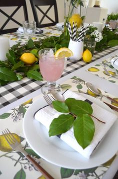 Fresh lemons = springtime feels. How to Set a Lemon-Infused Tablescape for Spring | INSPIRED home