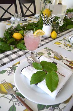 Fresh lemons = springtime feels. How to Set a Lemon-Infused Tablescape for Spring | INSPIRED home