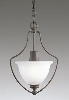 Madison Collection Antique Bronze 1-Light Chandelier