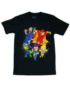 The Simpsons Superheroes Men's T-Shirt Black Large http://order.sale/yHGd (via Amazon)