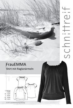 Schnittmuster, Raglanshirt + Raglanbluse FrauEMMA von schnittreif auf DaWanda.com