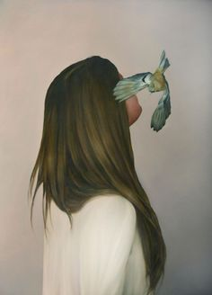 Women and Birds Realistic Paintings Art Du Monde, Bird People, Realistic Paintings, Art Et Illustration, Gcse Art, Pretty Art, Beautiful Birds, Female Art, Art Inspo