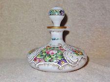 Antique Bohemian Hand Painted Perfume Bottle