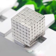 $44.43 - Awesome 216PCS ,5mm Silver Neodymium Square Magnetic ,Model Building Kits Puzzle NeoKub OF Magnetic Beads With Metal Box - Buy it Now!