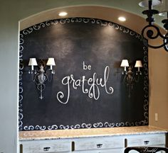 All Things Beautiful: Dining Room {Chalkboard} Wall