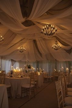 Ballroom idea India Wedding Decorations, Wedding Marquee Decoration, Wedding Reception Decorations Elegant, Chandelier Wedding Decor, Wedding Ceiling Decorations, Romantic Wedding Centerpieces, Marquee Wedding, Decoration Evenementielle, Flower Centerpieces