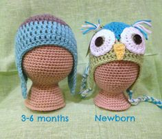 Crochet mannequin head for displaying/photographing your crocheted baby hats- Free pattern in newborn and 3-6 month sizes