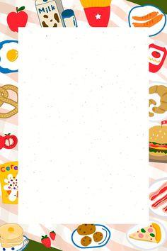 Cartoon Background, Beige Background, Art Background, Polaroid Decoration, Wallpaper Doodle, Happy Birthday Template, Food Doodles, Instagram Frame Template, Pop Stickers
