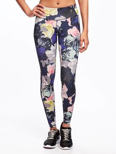 We're all for feeling pretty at the gym and love these floral leggings from Old Navy! (&they're compression, too!)