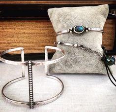 Studio Blue Jewelry #sterlingsilver #cuff #bracelet #labradorite #leather #pearl #jewelry #style #accessories