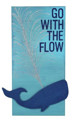 Go With The Flow Canvas - Click through for project instructions.