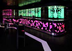 PAROLIO LE BOUTIQUE CLUB videowall BAR VIEW 960 Pub Interior, Bar Interior Design, Foyer Design, Hookah Lounge, Bar Lounge, Night Bar, Night Club, Restaurant Design, Restaurant Bar
