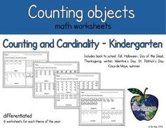 Students will practice counting seasonal objects to represent the numbers 1-10 and 11-20.  Easily differentiate for your students with 6 no-prep sheets for each theme, 3 for the numbers 1-10, and 3 for the numbers 11-20.  You can use one sheet for guided instruction, another sheet for independent practice, and the final sheet as an assessment.