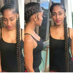 # simple Braids with weave # Braids africaines mariage # Braids africaines mariage Two Braid Hairstyles, My Hairstyle, Black Girls Hairstyles, Protective Hairstyles, Wedding Hairstyles, Protective Styles, Teenage Hairstyles, Hairstyles Videos, Black Girl Braids