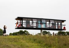 Modern House Spins and Tilts as Part of Performance Architecture Project…