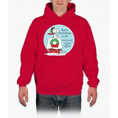 Snoopy: Merry Christmas To All Hooded Sweatshirt