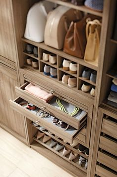 Feb 2019 - Who doesn't want to have a clean and organized closet? I know I do, check out these beautiful closet ideas. See more ideas about Closet bedroom, Closet designs and Beautiful closets. Closet Walk-in, Closet Space, Closet Storage, Closet Ideas, Smart Storage, Closet Drawers, Wardrobe Storage, Bedroom Storage, Closet Rooms