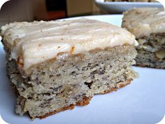 Banana Bread Bars with Brown Butter Frosting - Banana Bread taken to the next level