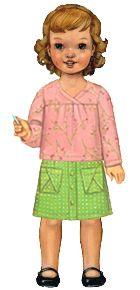 hopscotch skirt, knit top, + dress sewing pattern