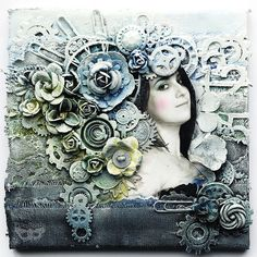 Collage (Imagine class) by finnabair, via Flickr
