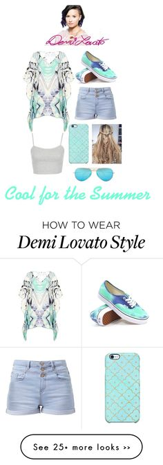"""""""LYRIC:Cool for the Summer-Demi Lovato"""" by iibear32 on Polyvore"""