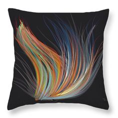 Digital Flow Throw Pillow by Mark Taylor now also available in a range of options from T-Shirts, shower curtains, phones cases and of course fine art prints!
