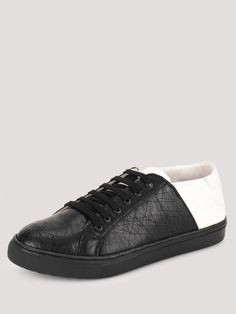 MARCELLO & FERRI Half And Half Sneakers In Contrast Online Shopping Shoes, Shoes Online, Black Casual Shoes, Men Online, Contrast, India, Stylish, Sneakers, Stuff To Buy