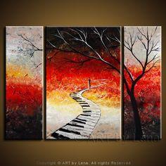"""My Way"" - Original Music Art by Lena Karpinsky, http://www.artbylena.com/original-painting/444/my-way.html"