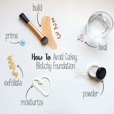 How To Avoid Cakey Makeup and Blotchy Foundation Beauty Tips For Teens, Beauty Tips For Hair, Best Beauty Tips, Beauty Hacks, Beauty Essentials, Beauty Secrets, Diy Beauty, Cakey Makeup, Foundation Tips