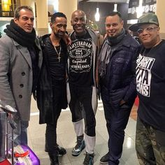 Arriving to the world premiere of Strike A Pose in Berlin. Salim Gauwloos, Jose Gutierez Xtravaganza, Carlton Wilborn, Luis Camacho Xtravaganza, and Oliver S Crumer III.