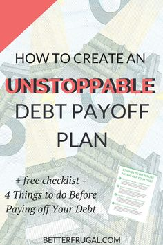 Are you ready to get serious about paying off your debt? Check out this article on the differences between the Debt Snowball and Debt Avalanche methods and how you can create an unstoppable debt payoff plan! (Warning: The numbers may surprise you!)     debt snowball | debt avalanche | debt payoff plan | debt payoff | debt free via @betterfrugal