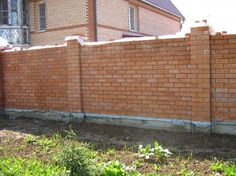 How to make a fence out of bricks