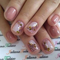 Purple Nail Designs, French Nail Designs, Colorful Nail Designs, Nail Art Designs, Short Nail Manicure, Gel Nail Art, Red Nails, Swag Nails, Sunflower Nail Art
