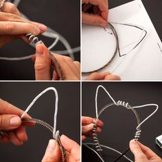 Make your own LED cat ears headband with this easy tutorial. -very talor swift in her 22 video Fantasias Halloween, Cat Ears Headband, Led Diy, Cosplay Tutorial, Maquillage Halloween, Fall Halloween, Halloween Party, Rave Outfits, Diy Clothing